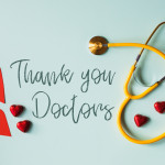 set-of-gratitude-message-for-doctors-with-stethoscope-and-4386495
